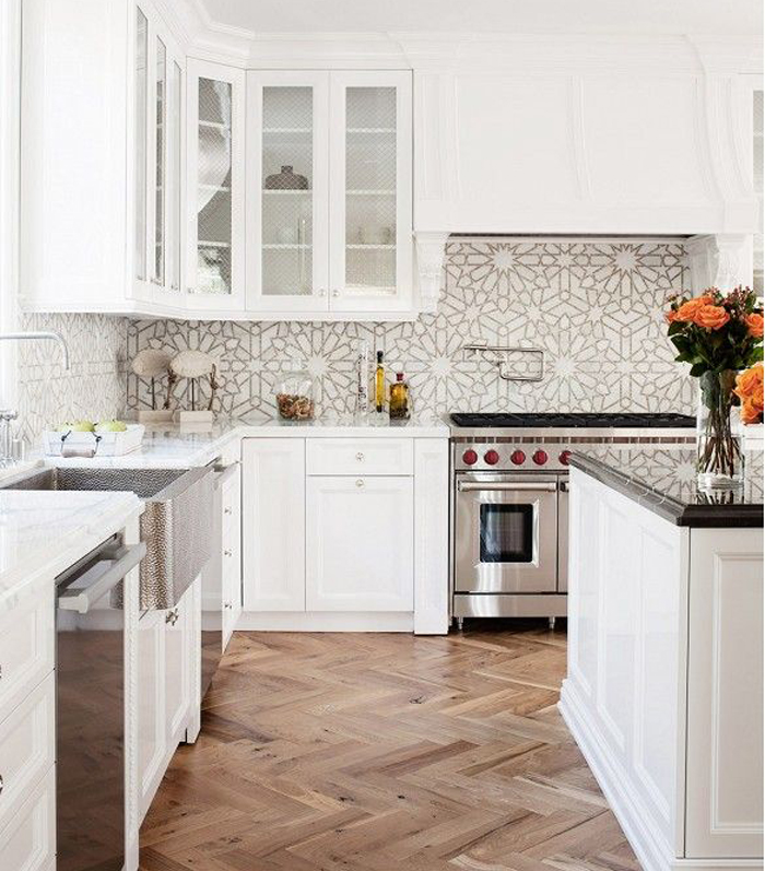 Kitchen Tile Pattern Prepossessing 4 Kitchen Backsplash Pattern Ideas  Livvyland  Austin Fashion Inspiration