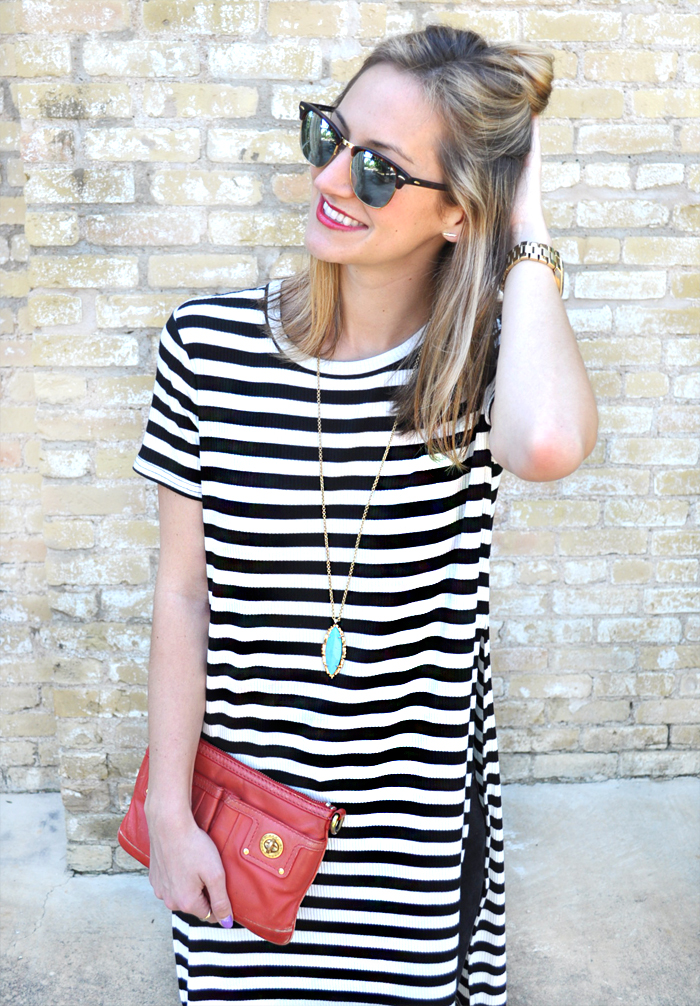 livvyland-blog-olivia-watson-austin-texas-fashion-blogger-forever21-striped-long-high-slit-tee-shirt-toms-booties-spring-style-3