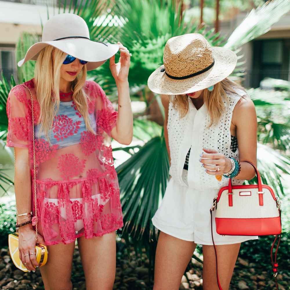 livvyland-blog-olivia-watson-lauren-vandiver-vandi-fair-eyelit-romper-pink-lace-coverup-retro-pool-party-swimwear-style