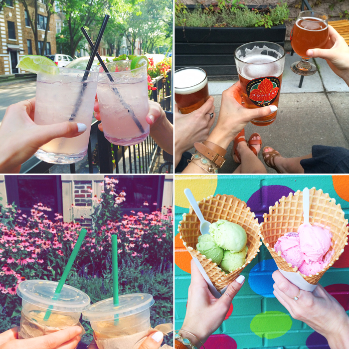 livvyland-blog-cheers-to-chicago-vacation-getaway-drinks-beer-hopleaf-pistachio-gelato