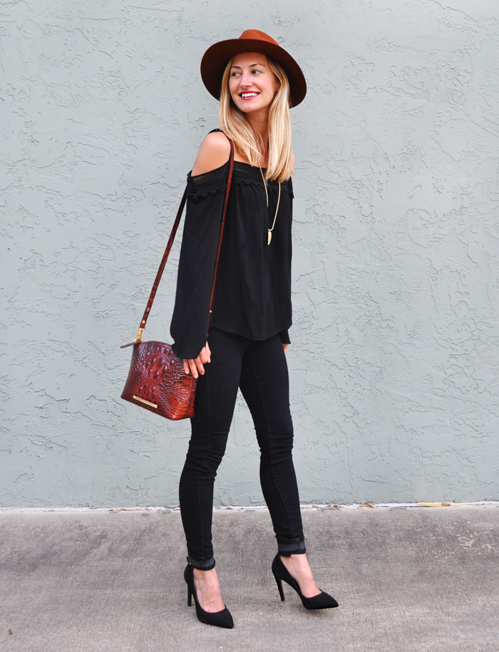 Boho chic black on black livvyland austin fashion and style blogger Bohemian style fashion blogs
