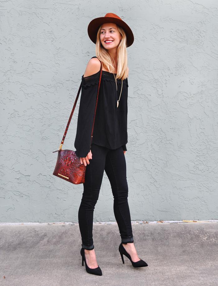 Boho Chic Black On Black Livvyland Austin Fashion And Style Blogger