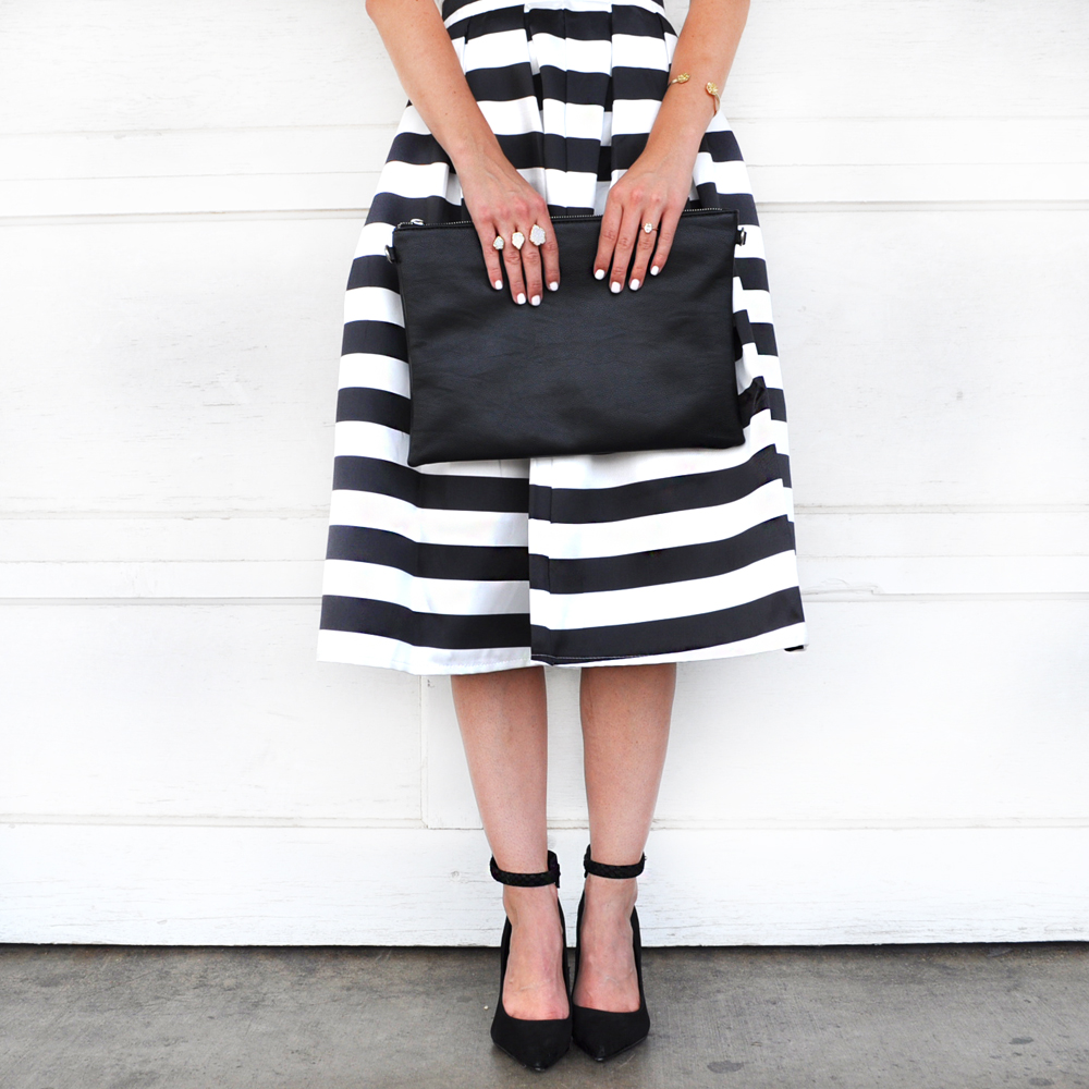 livvyland-blog-olivia-watson-austin-texas-fashion-blogger-chicwish-striped-tea-length-skirt-high-waist-black-white-topshop-white-halter-top-3