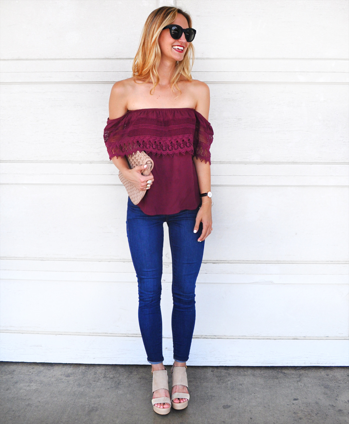 livvyland-blog-olivia-watson-austin-texas-fashion-blogger-socialite-lace-off-the-shoulder-top-plum-topshop-leigh-skinny-jeans-3