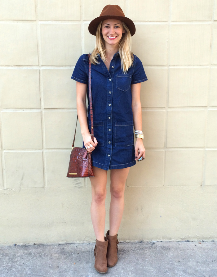 Livvyland Blog Olivia Watson Pixie Market Denim Dress