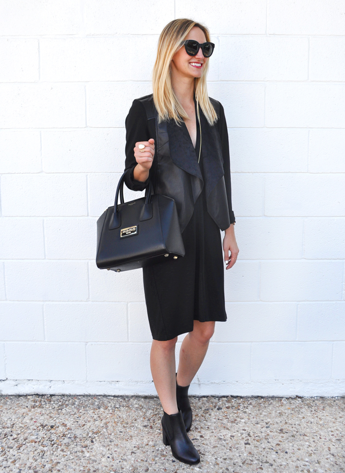 livvyland-blog-olivia-watson-austin-texas-fashion-lifestyle-blogger-yumi-kim-victory-dress-all-black-on-black-outfit-fall-rocker-chic-kendra-scott-sienna-necklace-drape-front-jacket-KUT-nordstrom-toms-traveler-florentin-sunglasses-valentino-handbag-4