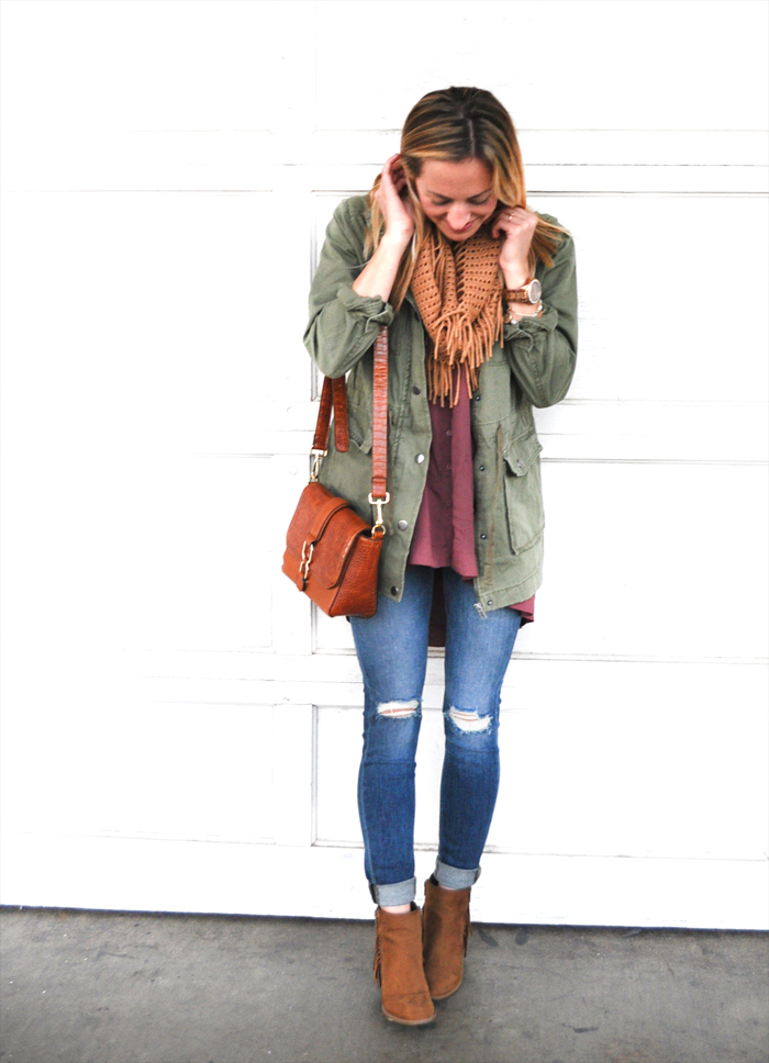 livvyland-blog-olivia-watson-austin-fashion-lifestyle-blogger-texas-green-utility-jacket-fall-layered-layers-outfit-inspiration-indigo-road-fringe-booties-2