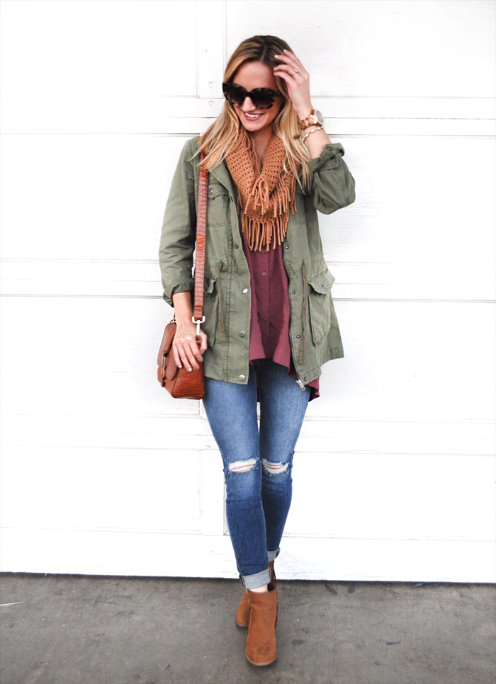 livvyland-blog-olivia-watson-austin-fashion-lifestyle-blogger-texas-green-utility-jacket-fall-layered-layers-outfit-inspiration-indigo-road-fringe-booties-4