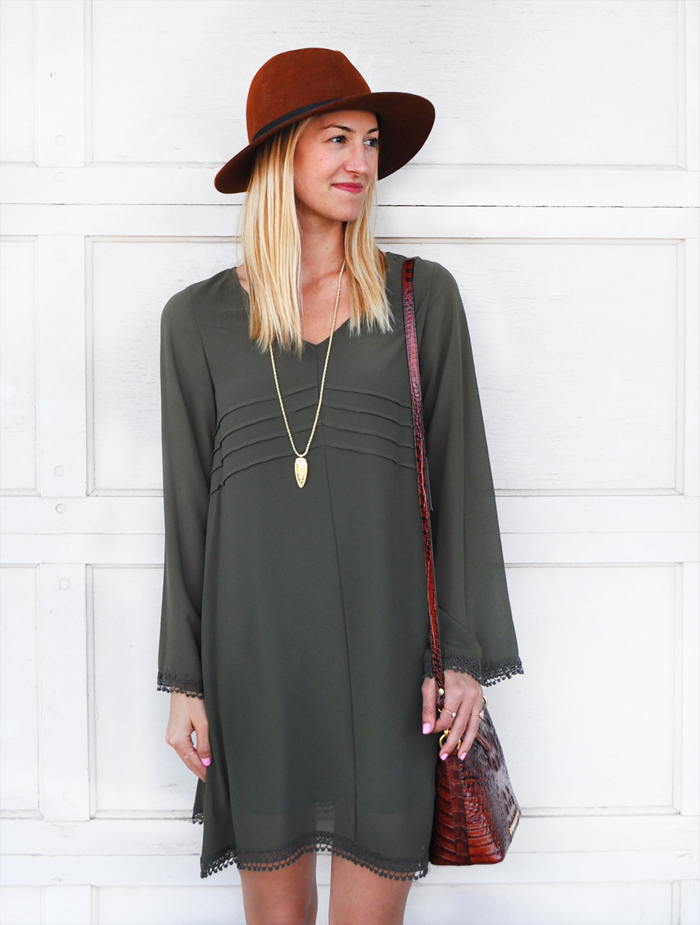 fall-outfit-inspiration-livvyland-blog-olivia-watson-dee-elle-olive-green-shift-dress-nordstrom-austin-texas-fashion-blogger-toms-majorca-suede-booties-brahmin-handbag-2