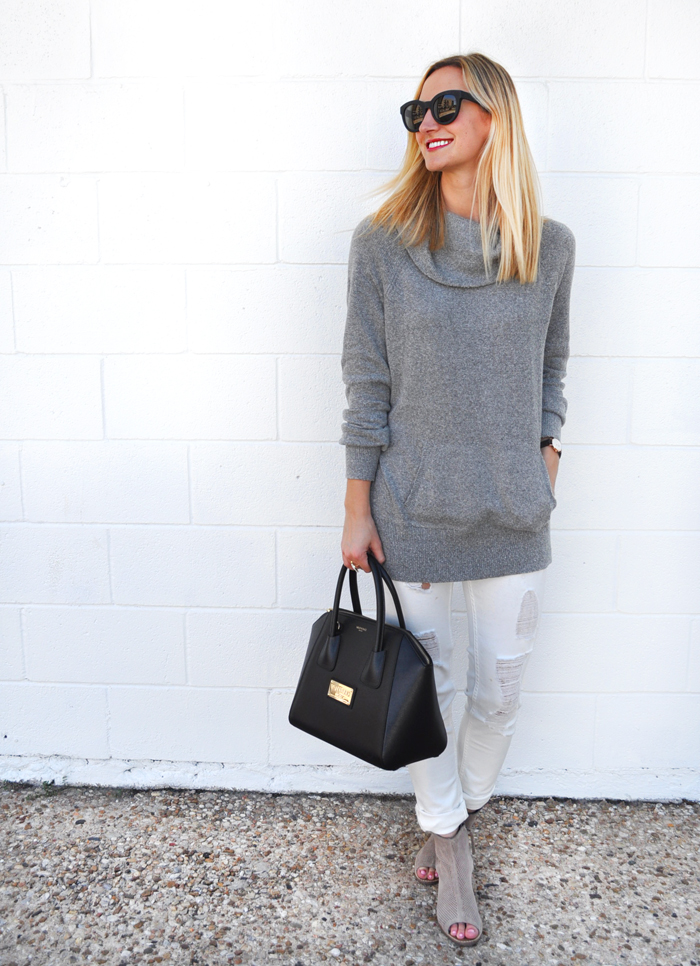 livvyland-blog-caslon-cowl-neck-sweater-grey-vigoss-distressed-white-skinny-jeans-toms-majorca-booties-olivia-watson-fall-winter-outfit-austin-texas-fashion-blogger-blog-9