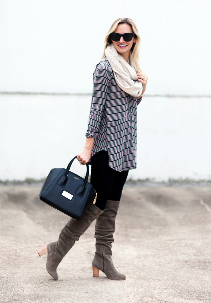 livvyland-blog-olivia-watson-striped-top-fall-outfit-seychelles-larimar-over-the-knee-taupe-suede-boots-2