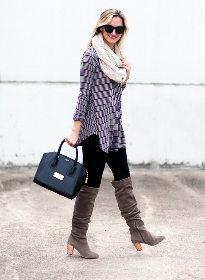 livvyland-blog-olivia-watson-striped-top-fall-outfit-seychelles-larimar-over-the-knee-taupe-suede-boots-6