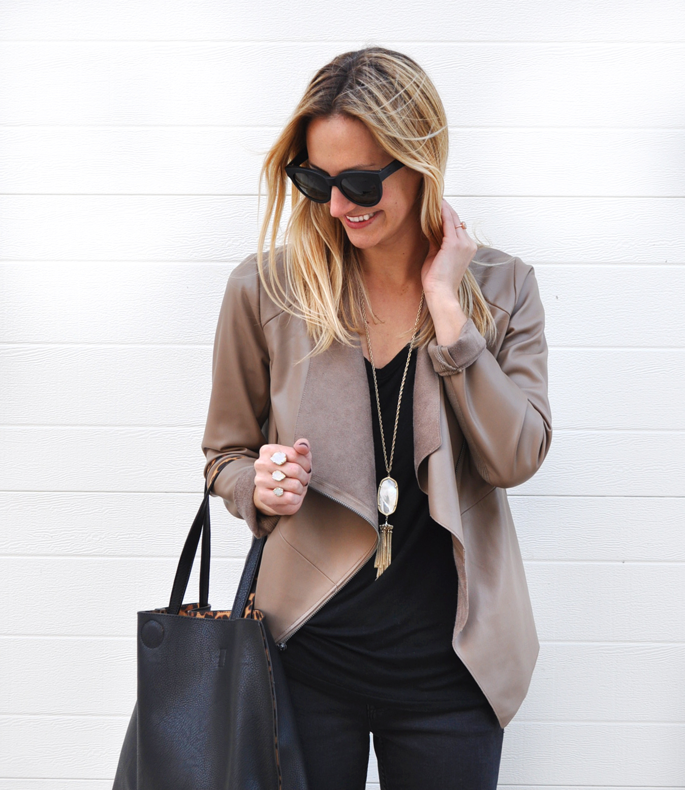 livvyland-blog-bb-dakota-nude-drape-front-jacket-chic-all-black-outfit-olivia-watson-austin-texas-fashion-blogger-2