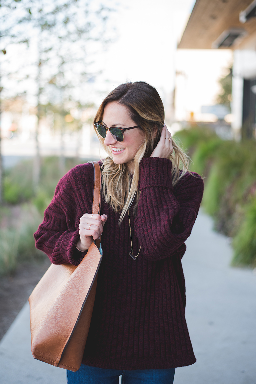 livvyland-blog-olivia-watson-oversize-wine-burgundy-knit-chunky-grandpa-sweater-austin-texas-fashion-blogger-olivia-watson-kathryn-frazer-photography-south-congress-hotel-madewell-tan-loafers-flats-13