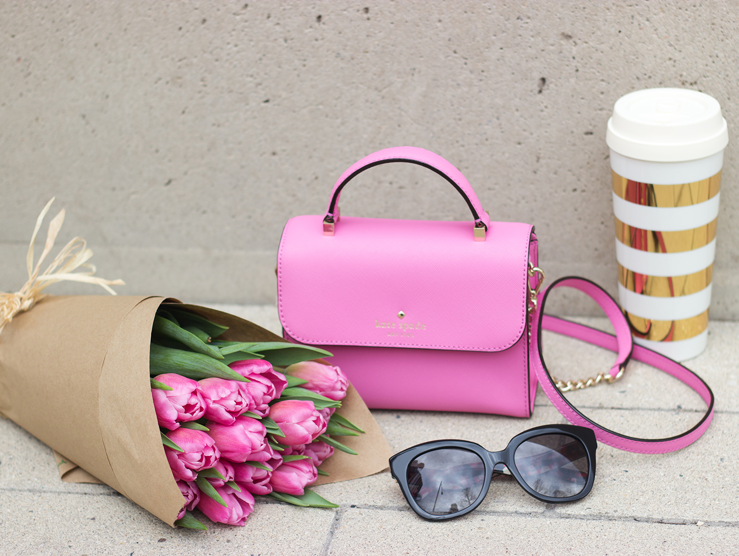 livvyland-blog-olivia-watson-austin-texas-fashion-blogger-gold-white-thermos-amberly-sunglasses-pink-rouge-hayden-handbag-tulip-pink-bouquet