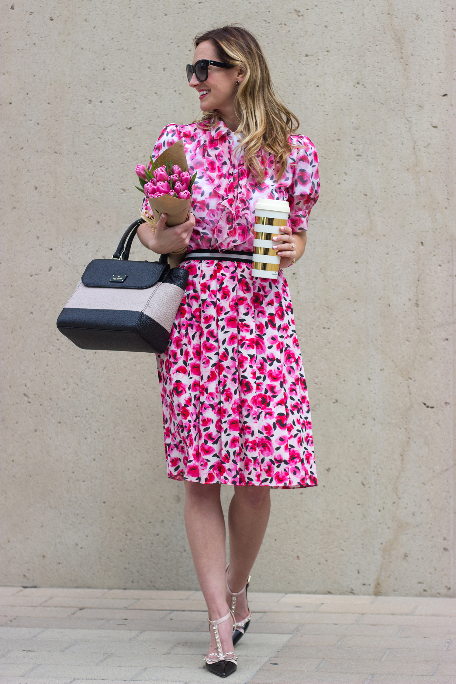 livvyland-blog-olivia-watson-austin-texas-fashion-blogger-kate-spade-broome-street-everyday-tee-white-rose-pleated-skirt-pink-black-spring-outfit-17