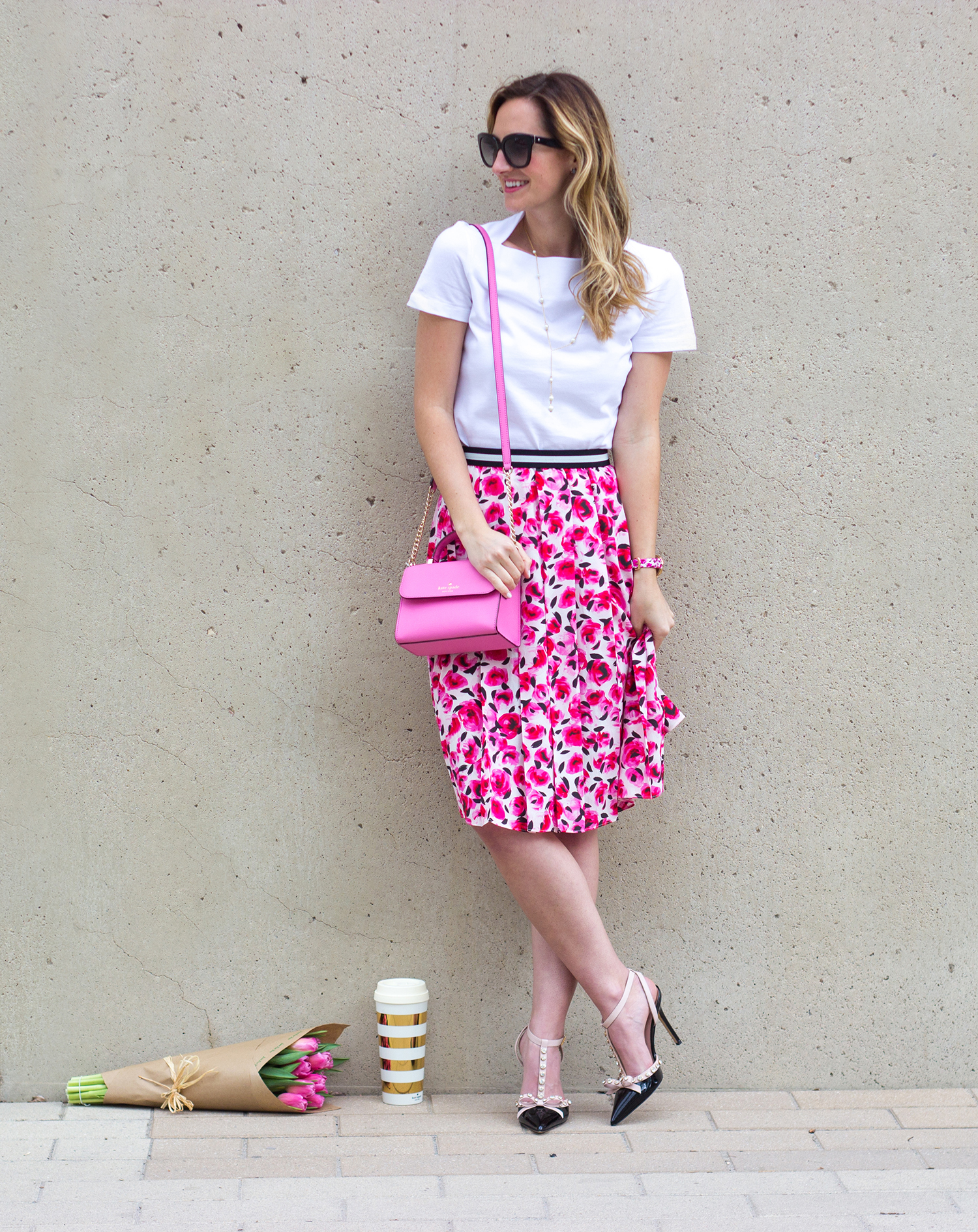 livvyland-blog-olivia-watson-austin-texas-fashion-blogger-kate-spade-broome-street-everyday-tee-white-rose-pleated-skirt-pink-black-spring-outfit-6