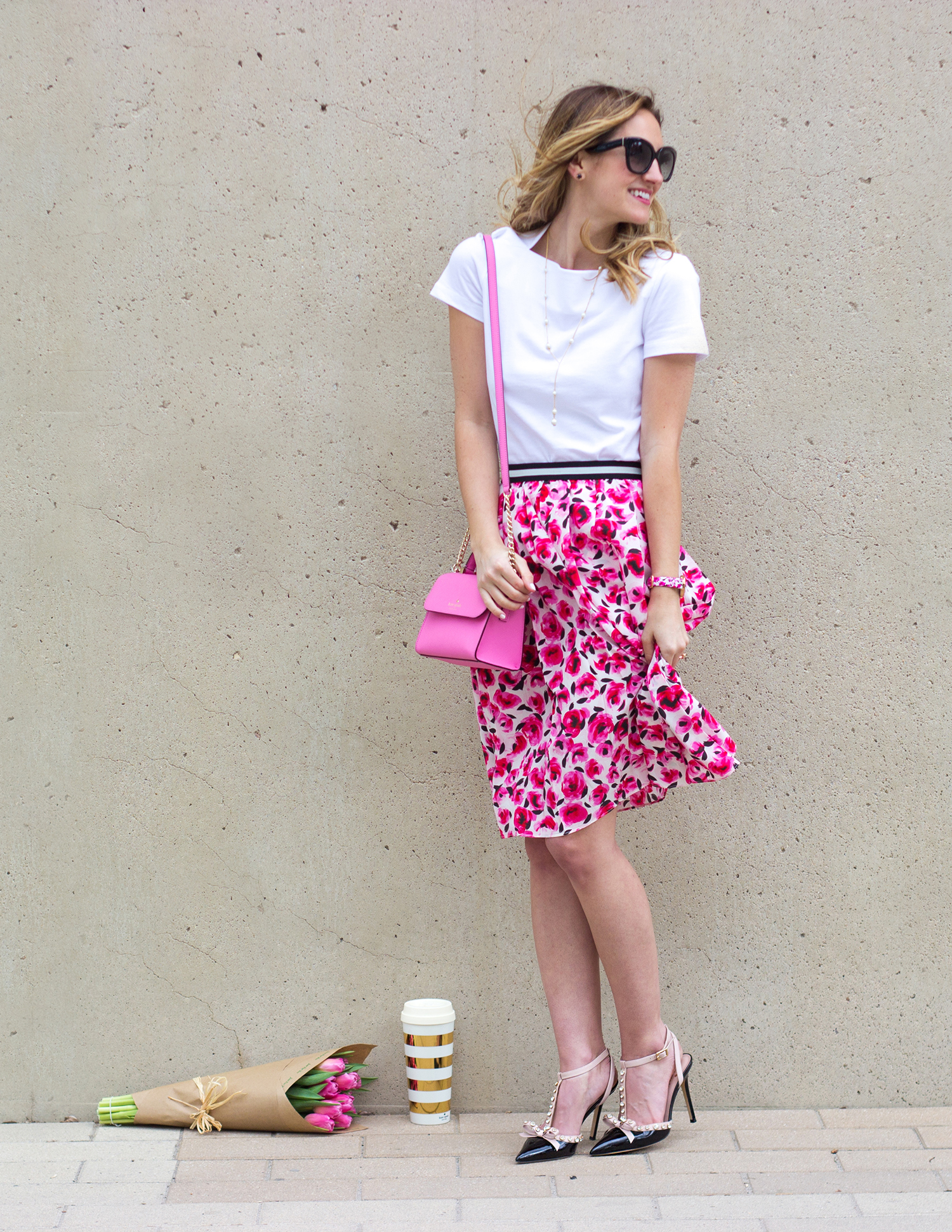 livvyland-blog-olivia-watson-austin-texas-fashion-blogger-kate-spade-broome-street-everyday-tee-white-rose-pleated-skirt-pink-black-spring-outfit-7