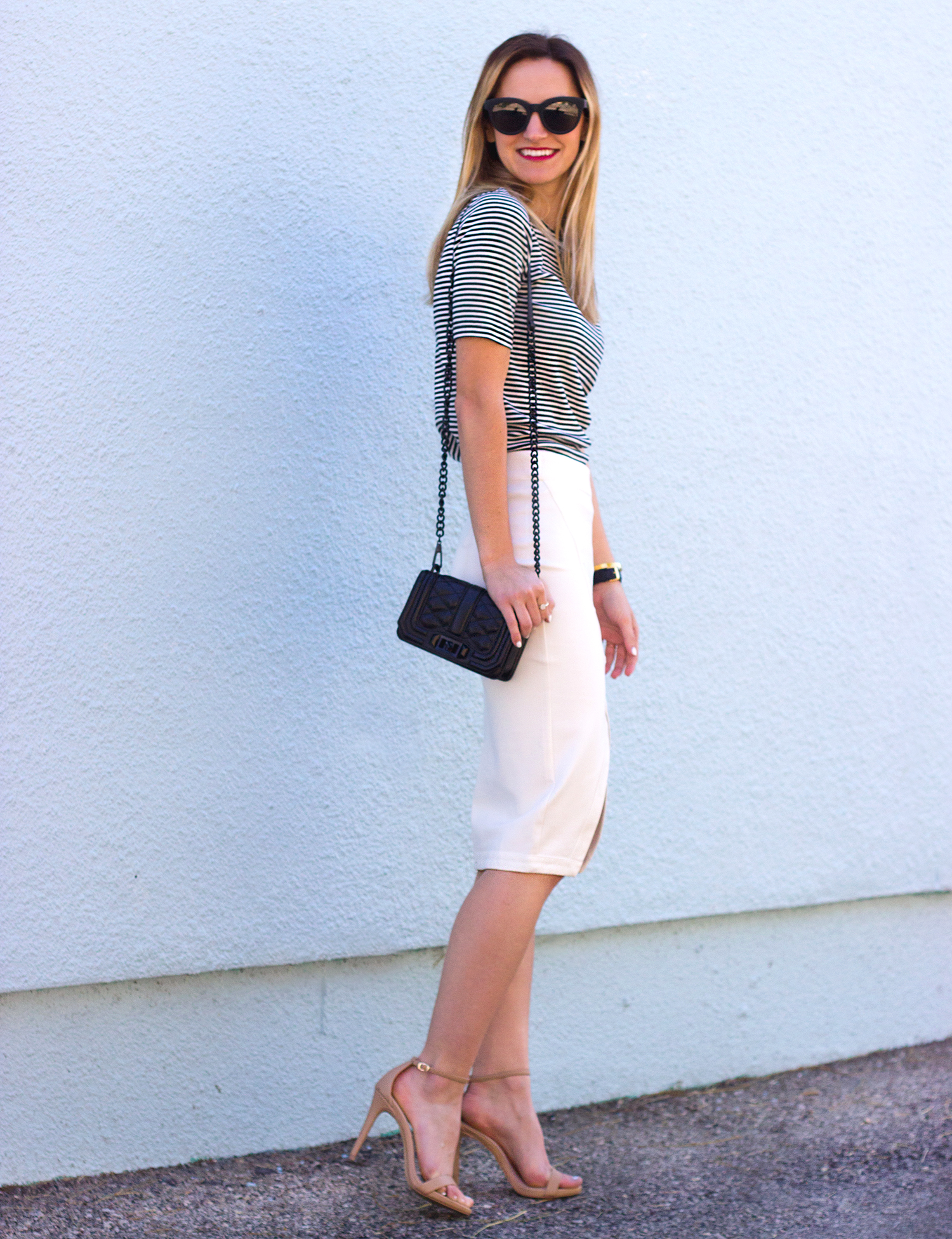 livvyland-blog-olivia-watson-austin-texas-fashion-blogger-steve-madden-stecy-nude-heels-cupcakes-and-cashmere-white-pencil-skirt-madewell-striped-tee-shirt-2