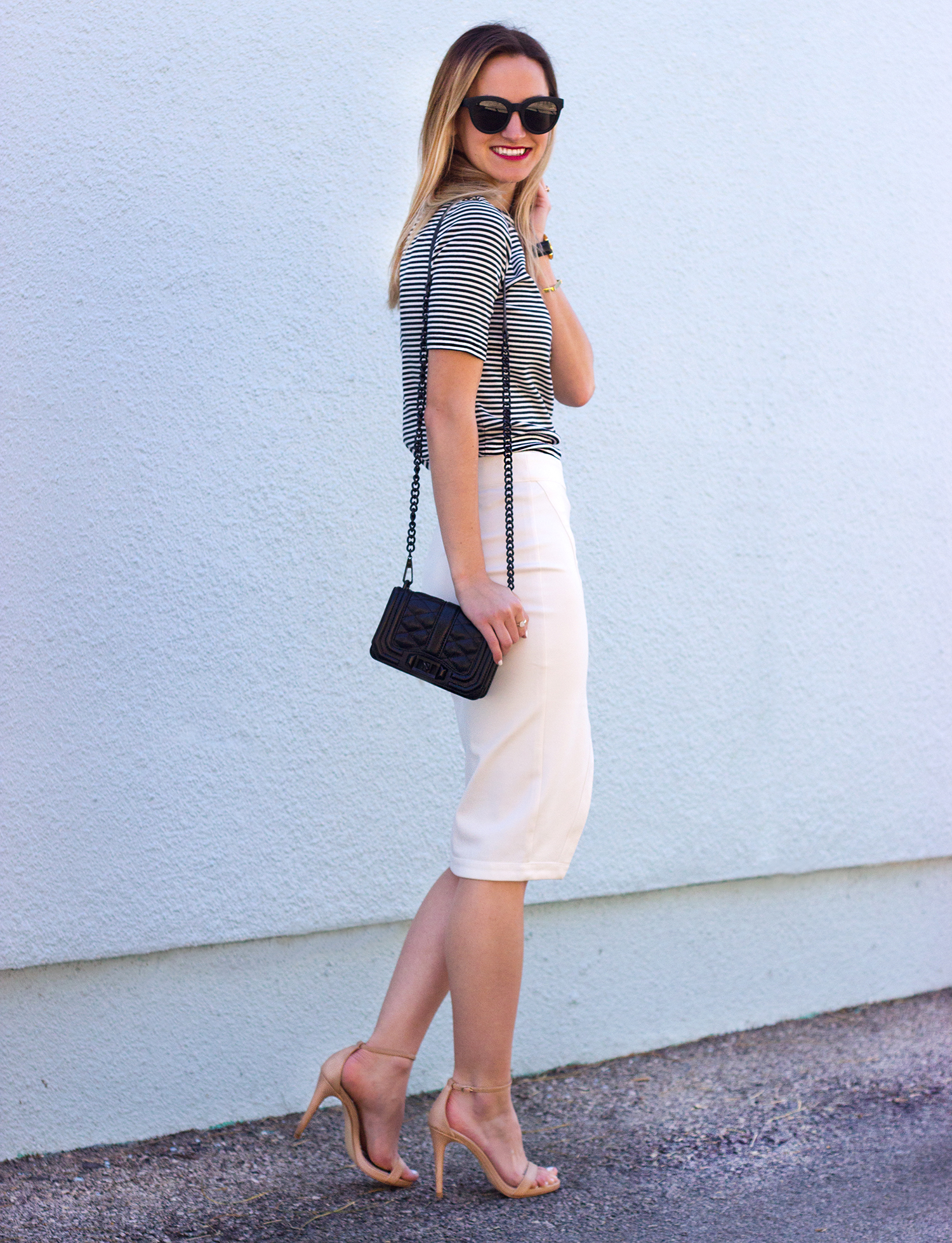 livvyland-blog-olivia-watson-austin-texas-fashion-blogger-steve-madden-stecy-nude-heels-cupcakes-and-cashmere-white-pencil-skirt-madewell-striped-tee-shirt-4