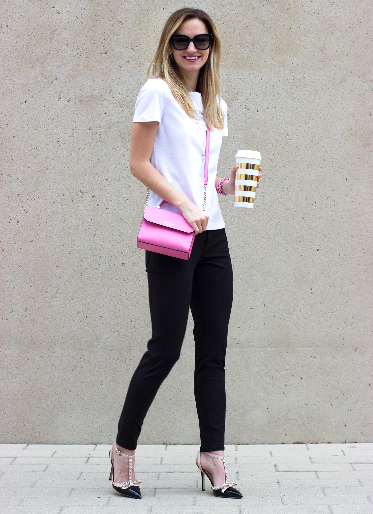 livvyland-blog-olivia-watson-kate-spade-broome-street-everyday-tee-cigarette-pants-rockstud-heels-black-white