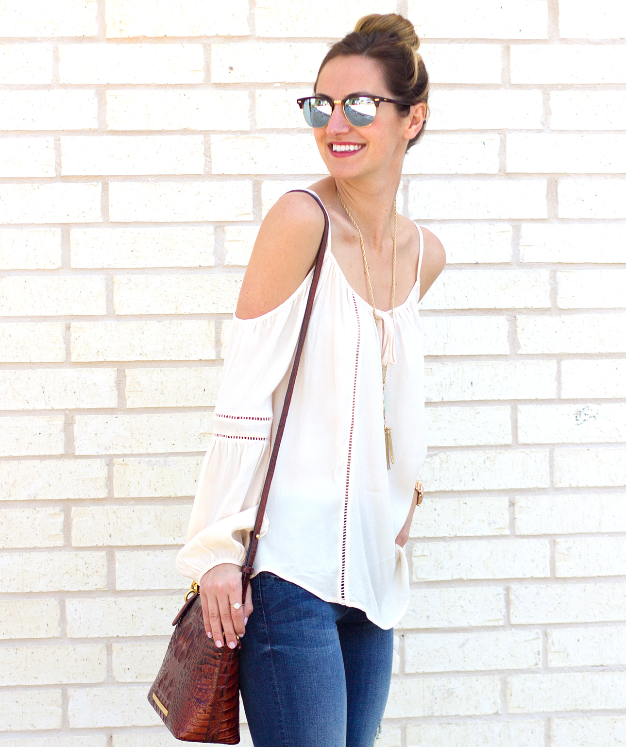 1-livvyland-blog-olivia-watson-austin-texas-fashion-blogger-kut-against-the-kloth-skinny-jeans-cream-nude-cold-shoulder-off-top-spring-nordstrom-stecy-heels-steve-madden-10