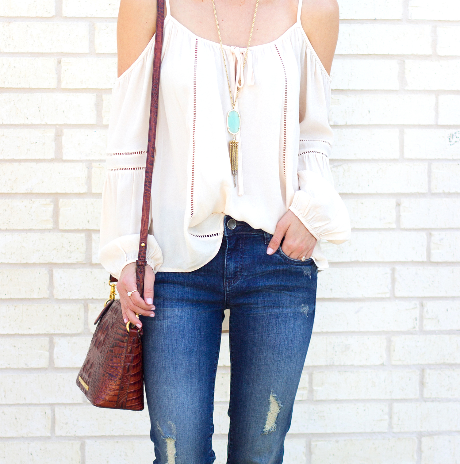 1-livvyland-blog-olivia-watson-austin-texas-fashion-blogger-kut-against-the-kloth-skinny-jeans-cream-nude-cold-shoulder-off-top-spring-nordstrom-stecy-heels-steve-madden-7