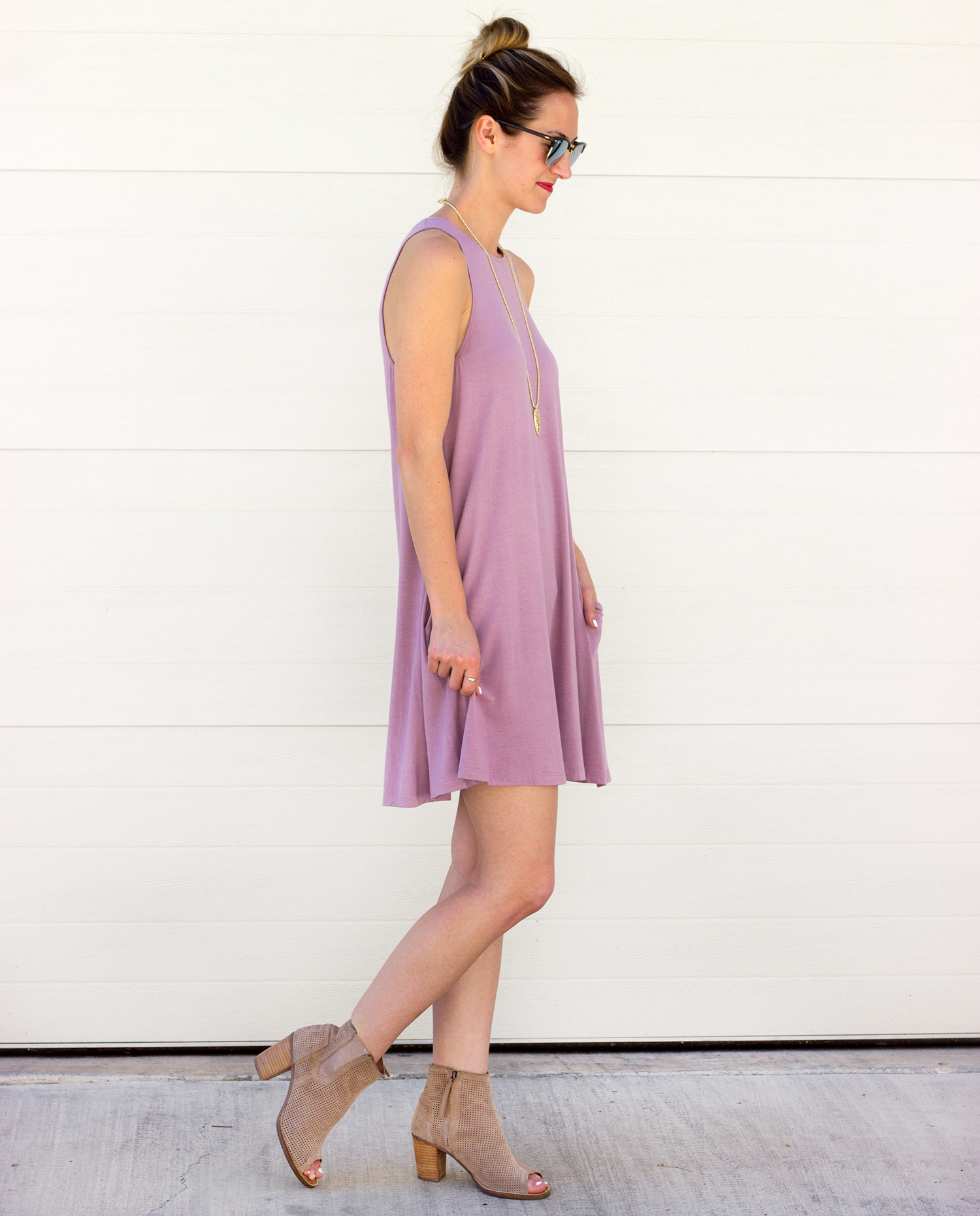 livvyland-blog-olivia-watson-austin-texas-fashion-blogger-lilac-shift-dress-cotton-pockets-purple-pink-toms-majorca-booties-boots-spring-outfit-3