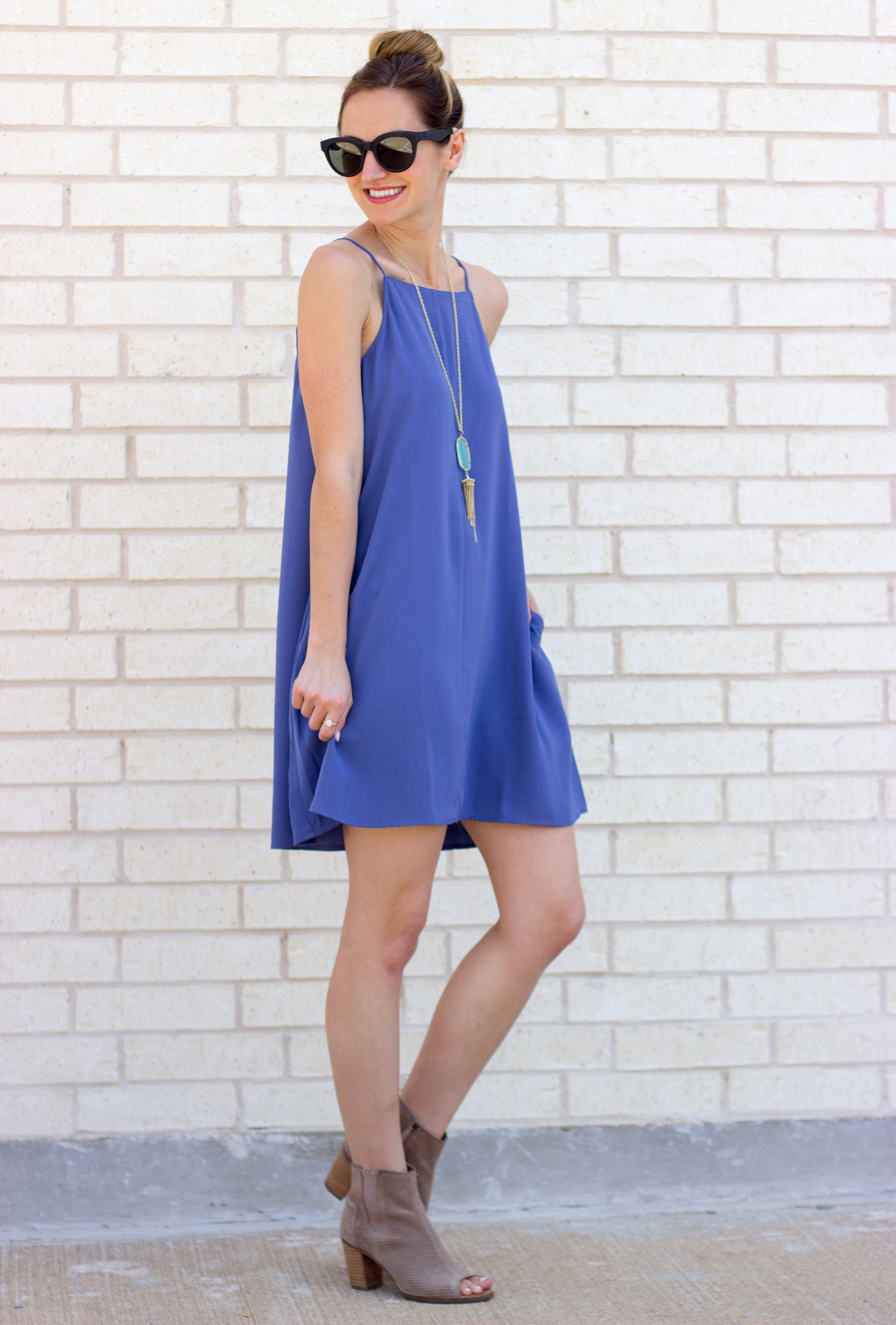 livvyland-blog-olivia-watson-austin-texas-fashion-blogger-periwinkle-spring-square-neck-shift-dress-majorca-toms-taupe-booties-spring-bright-outfit-7