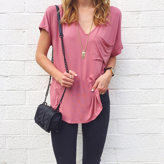 livvyland-blog-olivia-watson-austin-texas-fashion-blogger-rebecca-minkoff-black-mini-love-crossbody-bag-lush-pink-relaxed-fit-tee-shirt-edgy-boho-festival-style