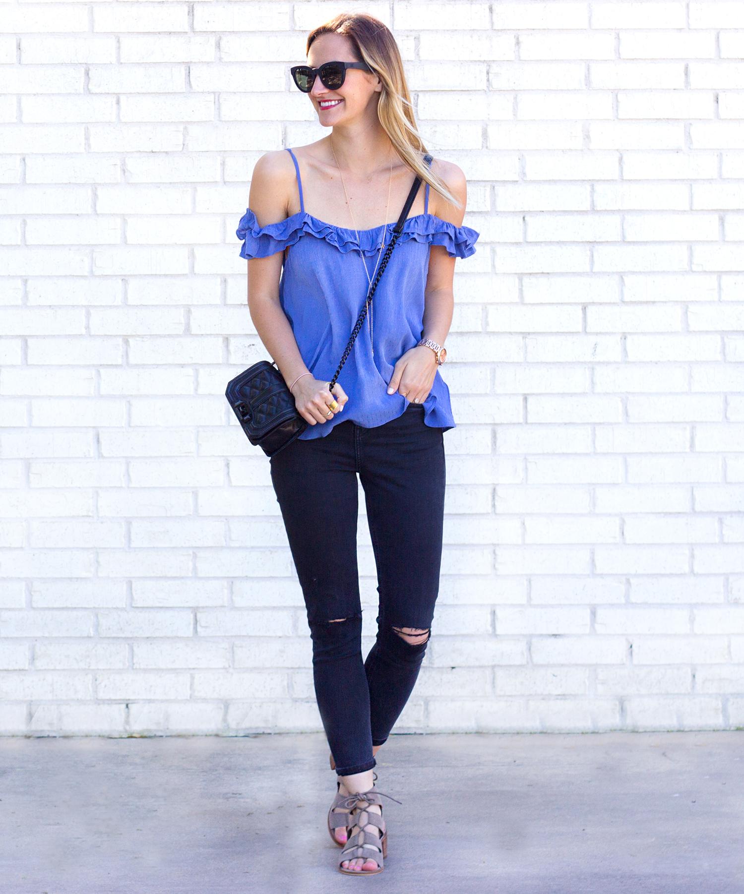 livvyland-blog-olivia-watson-austin-texas-fashion-blogger-topshop-ruffled-off-shoulder-cold-top-black-distressed-skinny-jeans-rebecca-minkoff-mini-love-affair-handbag-3