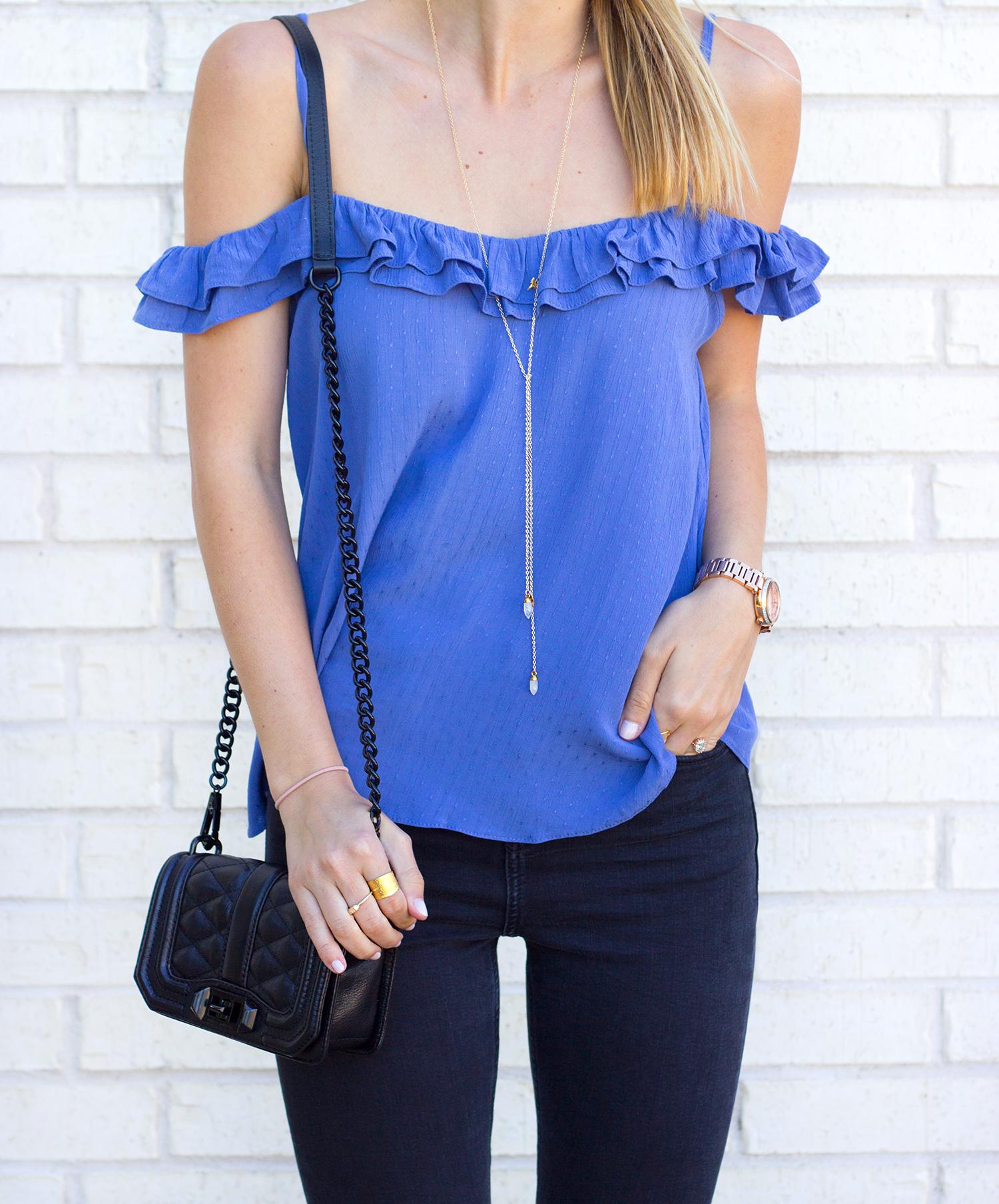 livvyland-blog-olivia-watson-austin-texas-fashion-blogger-topshop-ruffled-off-shoulder-cold-top-black-distressed-skinny-jeans-rebecca-minkoff-mini-love-affair-handbag-7