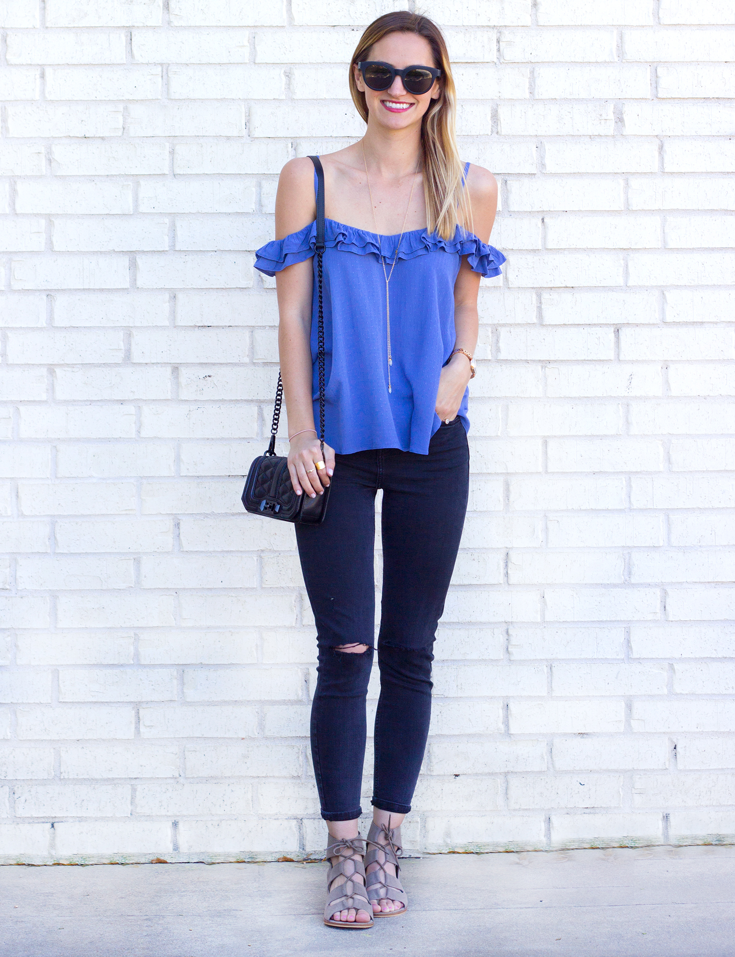 livvyland-blog-olivia-watson-austin-texas-fashion-blogger-topshop-ruffled-off-shoulder-cold-top-black-distressed-skinny-jeans-rebecca-minkoff-mini-love-affair-handbag-8