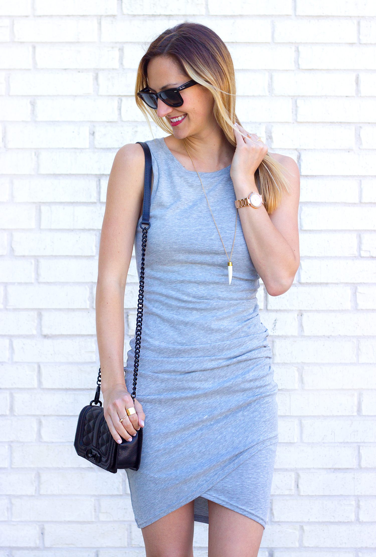 livvyland-blog-olivia-watson-leith-heather-grey-body-con-dress-toms-majorca-black-booties-austin-texas-fashion-blogger-spring-outfit-rayban-wayfarer-4