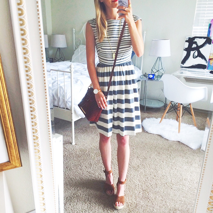 livvyland-blog-olivia-watson-spring-style-austin-texas-fashion-blogger-donna-morgan-striped-fit-and-flare-dress-easter-outfit-inspiration