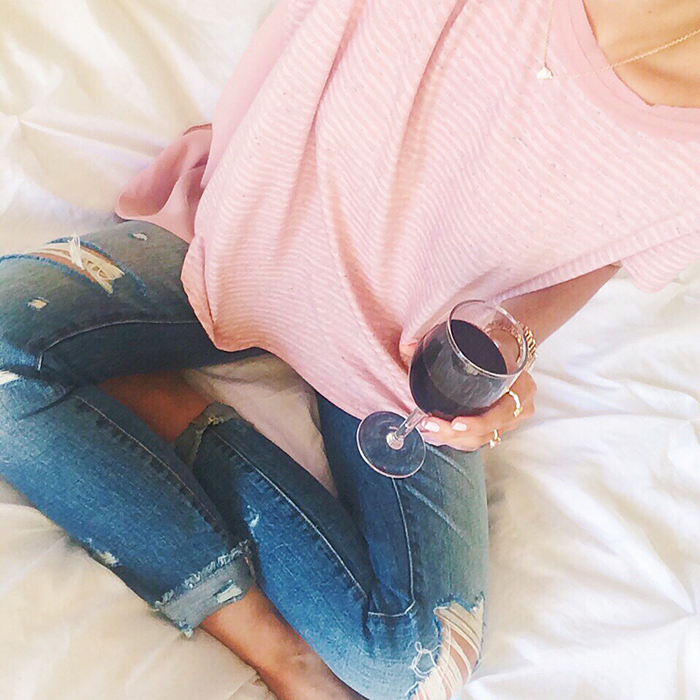 livvyland-blog-olivia-watson-spring-style-austin-texas-fashion-blogger-wine-down-wednesday-red-wine-in-bed-cozy-relaxed