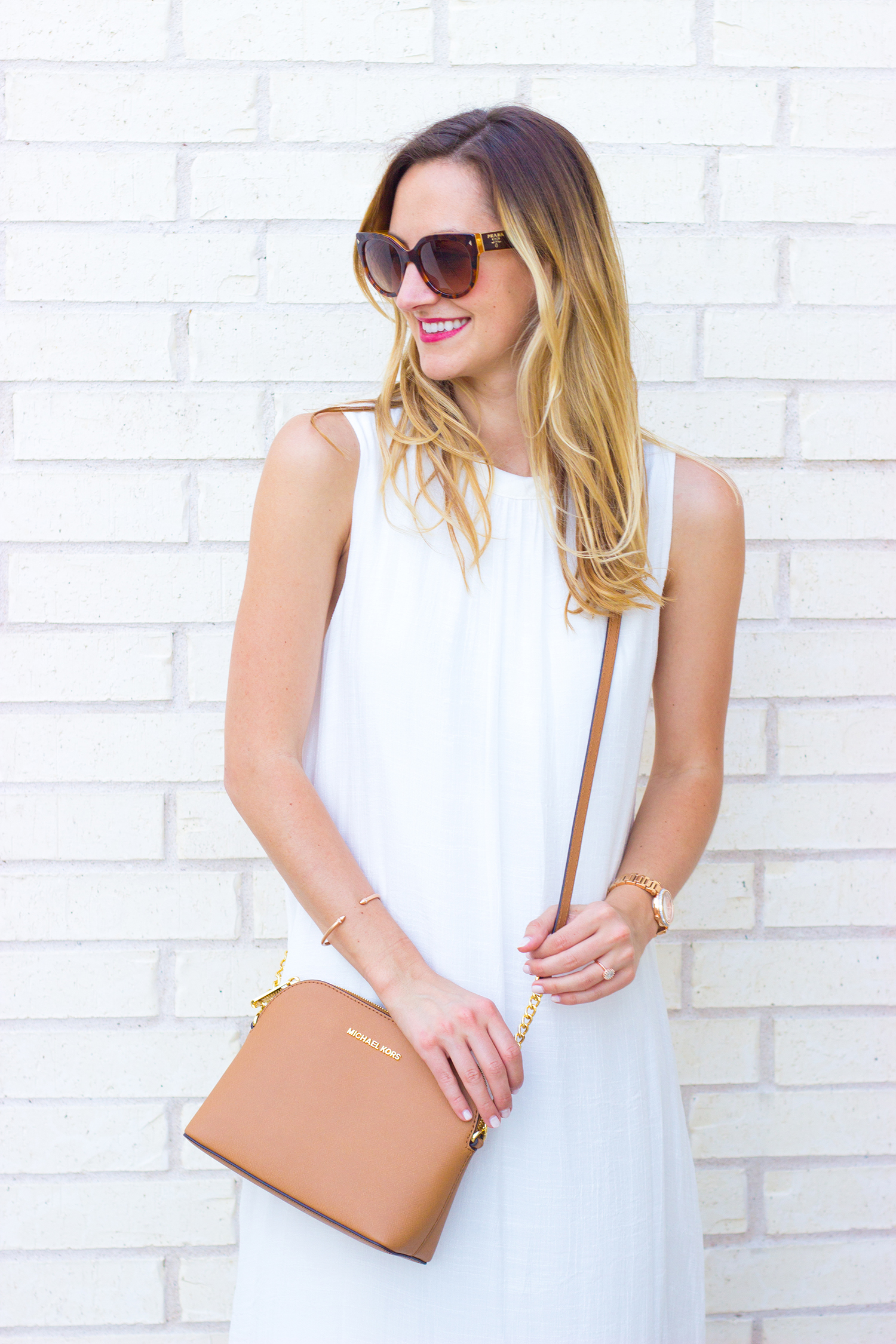 livvyland-blog-olivia-watson-white-sheer-midi-dress-painted-threads-braided-sandal-heels-austin-texas-fashion-blogger-rose-gold-kendra-scott-prada-cateye-sunglasses-spring-outfit-3