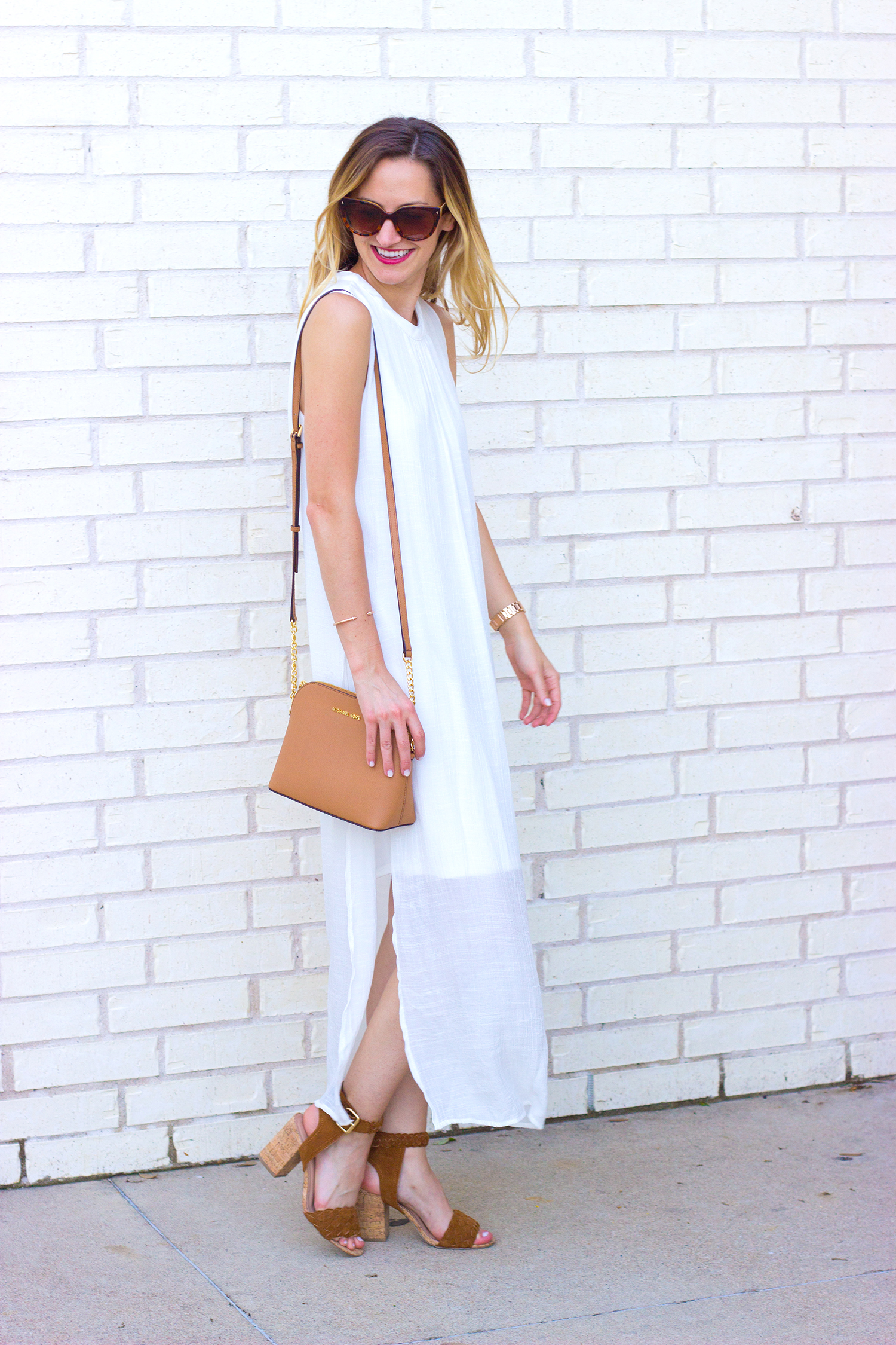 livvyland-blog-olivia-watson-white-sheer-midi-dress-painted-threads-braided-sandal-heels-austin-texas-fashion-blogger-rose-gold-kendra-scott-prada-cateye-sunglasses-spring-outfit-8