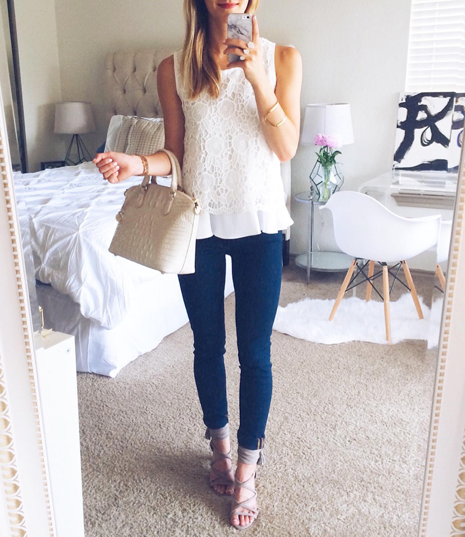 livvyland-blog-olivia-watson-austin-texas-fashion-blogger-white-lace-top-selfie-jeffrey-campbell-despina-heels-brahmin-duxbury-cava