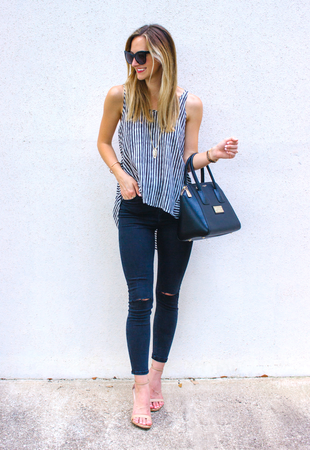 livvyland-blog-hi-lo-striped-strappy-back-open-back-tank-top-topshop-jamie-jeans-olivia-watson-austin-texas-fashion-blogger-stecy-nude-heels-4