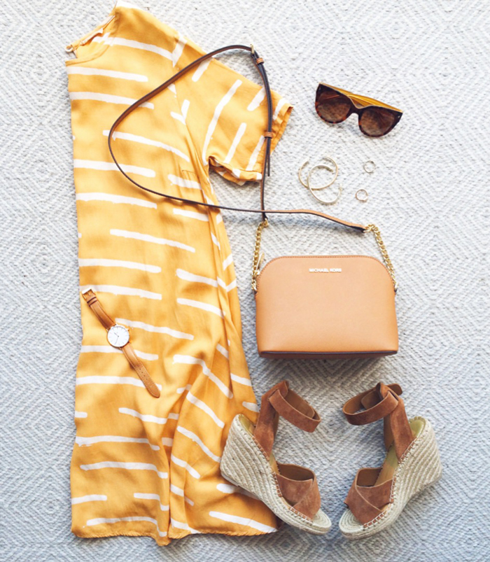 livvyland-blog-olivia-watson-austin-texas-fashion-blogger-anthropologie-yellow-mustard-canary-striped-shift-dress