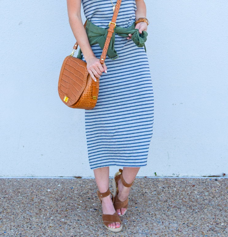 livvyland-blog-olivia-watson-austin-texas-fashion-blogger-striped-midi-dress-green-utility-jacket-brahmin-sonny-crossbody-handbag-prada-cat-eye-sunglasses-casual-outfit-12