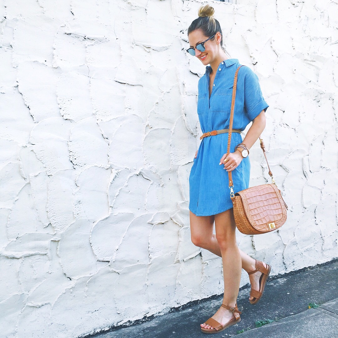 livvyland-blog-olivia-watson-austin-texas-fashion-blogger-denim-shirt-dress-madewell-cognac-sandals-brahmin-handbag-sonny-travel-mediterranean-outfit
