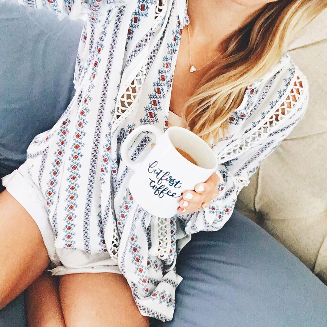 livvyland-blog-olivia-watson-austin-texas-fashion-blogger-tribal-print-boho-tunic-coffee-in-bed