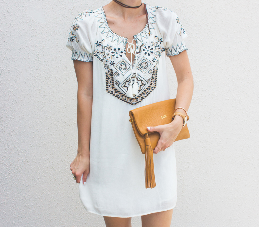 livvyland-blog-olivia-watson-austin-texas-fashion-blogger-abercrombie-and-fitch-embroidered-off-shoulder-dress-seychelles-platform-wedge-sandals-boho-outfit-ray-ban-reflective-clubmaster-summer-outfit-8