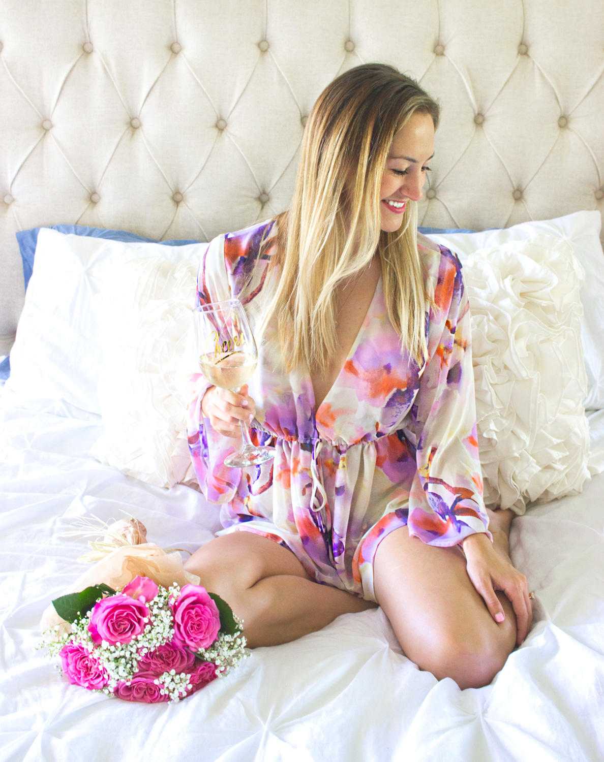 livvyland-blog-olivia-watson-austin-texas-fashion-blogger-bridal-what-to-wear-while-getting-ready-wedding-show-me-your-mumu-bell-sleeve-romper-bridesmaid-floral-4
