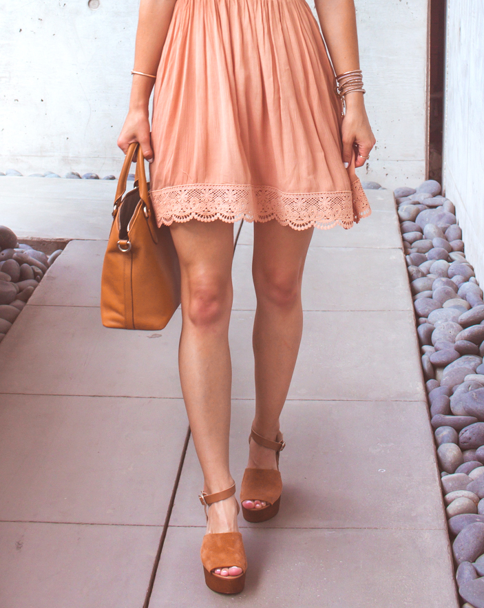 livvyland-blog-olivia-watson-austin-texas-fashion-lifestyle-blogger-peach-coral-lace-off-shoulder-dress-platform-wedges-summer-outfit-1