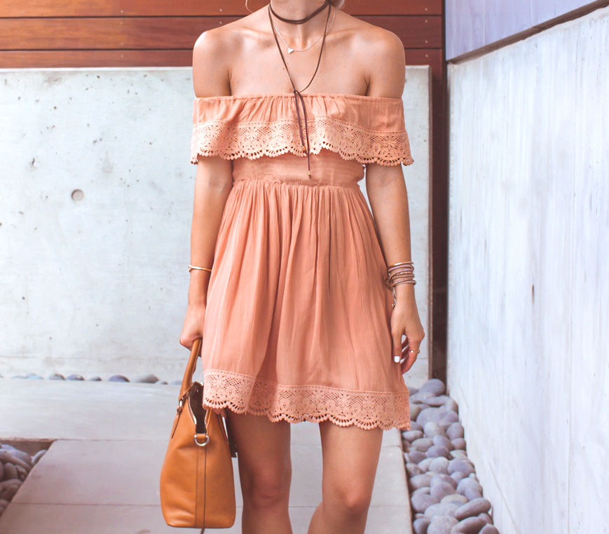 livvyland-blog-olivia-watson-austin-texas-fashion-lifestyle-blogger-peach-coral-lace-off-shoulder-dress-platform-wedges-summer-outfit-3