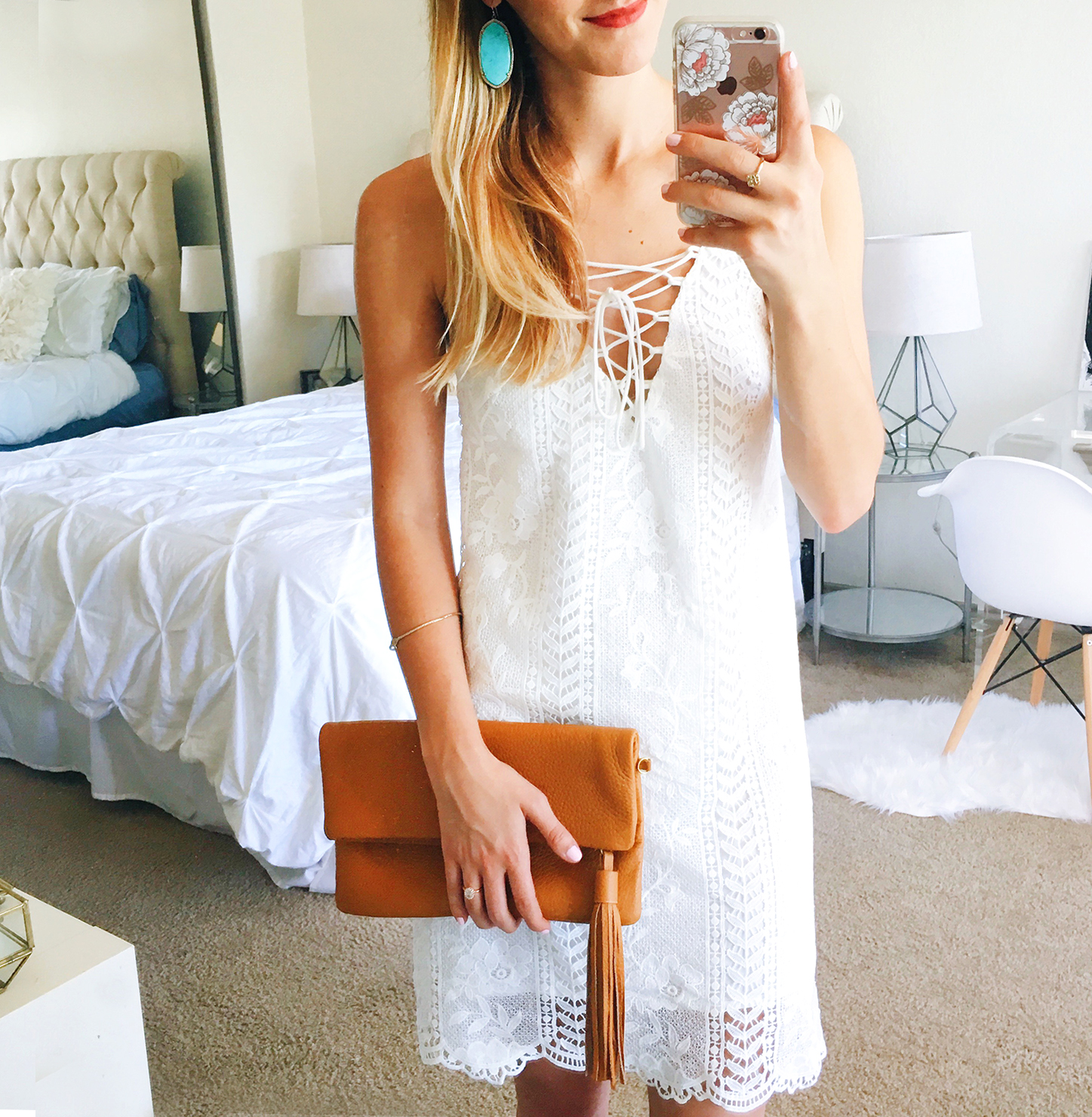 livvyland-blog-olivia-watson-white-dress-ideas-to-wear-to-bridal-events-engagement-party-rehearsal-dinner-bridesmaid-luncheon-wedding-prep-for-astr-lace-front-short-white-dress-1