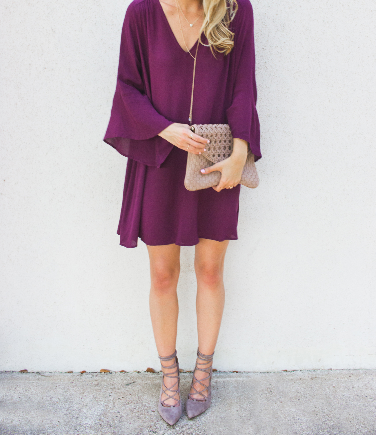 livvyland-blog-olivia-watson-austin-texas-fashion-blogger-bell-sleeve-maroon-wine-burgundy-oxblood-dress-lace-up-heels-1